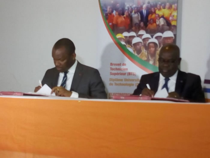 Adéquation Formation-emploi : Le Secrétariat d'État signe une convention avec la CIE